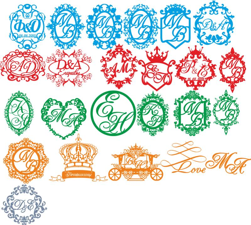 Wedding Monogram Free CDR Vectors Art