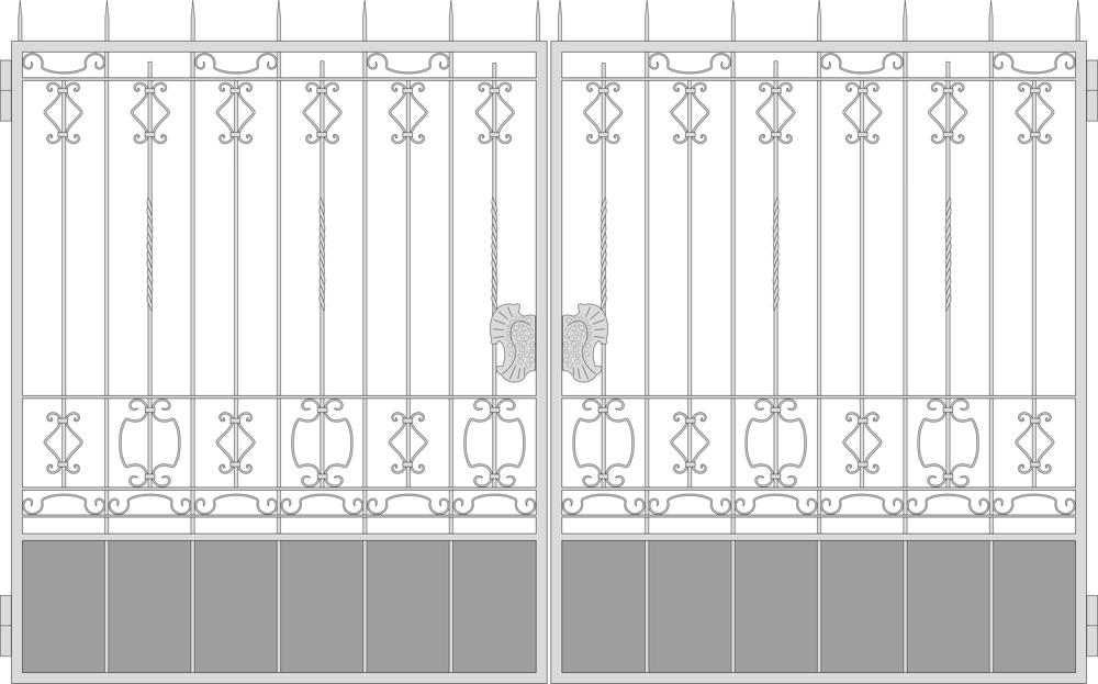 Forged Gates Design Free CDR Vectors Art