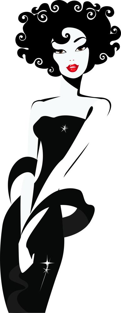 Lady Looking Silhouette Free CDR Vectors Art