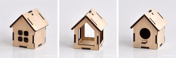 Small House 3D Puzzle Free CDR Vectors Art