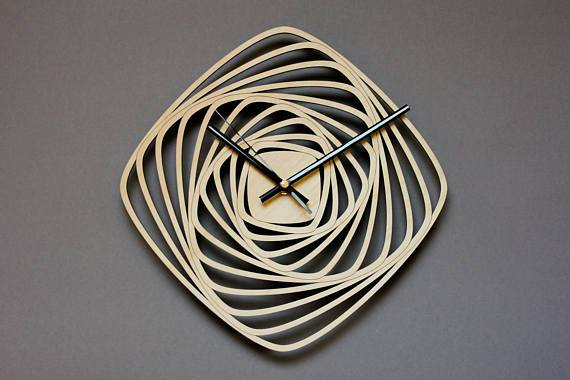 часы квадраты спиралью Free CDR Vectors Art