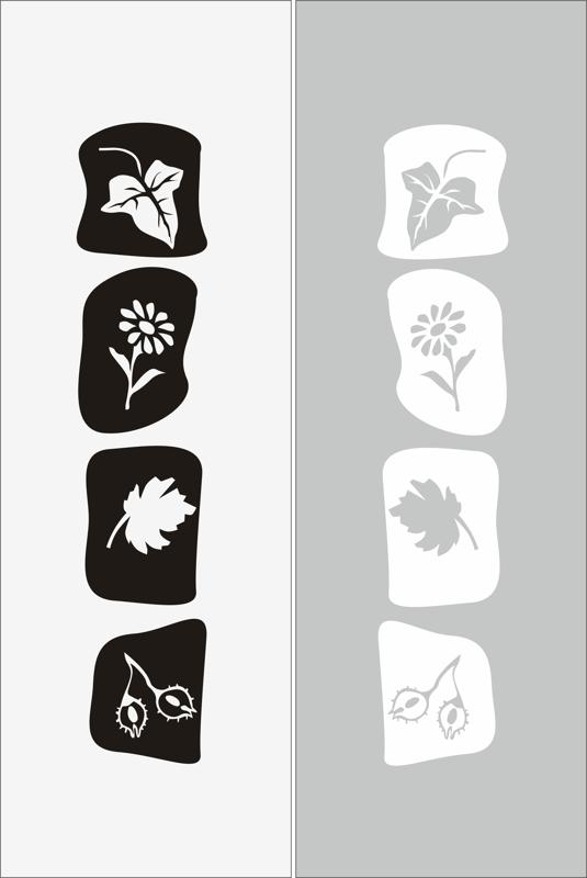 Abstract Floral Elements Sandblast Pattern Free CDR Vectors Art