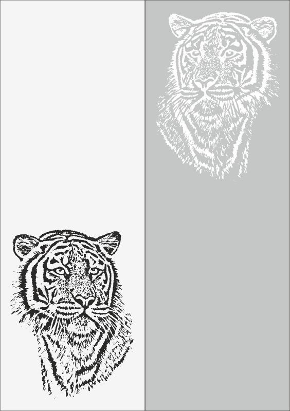 Sandblast Pattern Tiger Free CDR Vectors Art