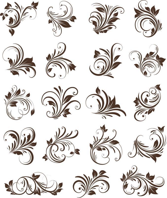 Floral Ornaments Element Free CDR Vectors Art