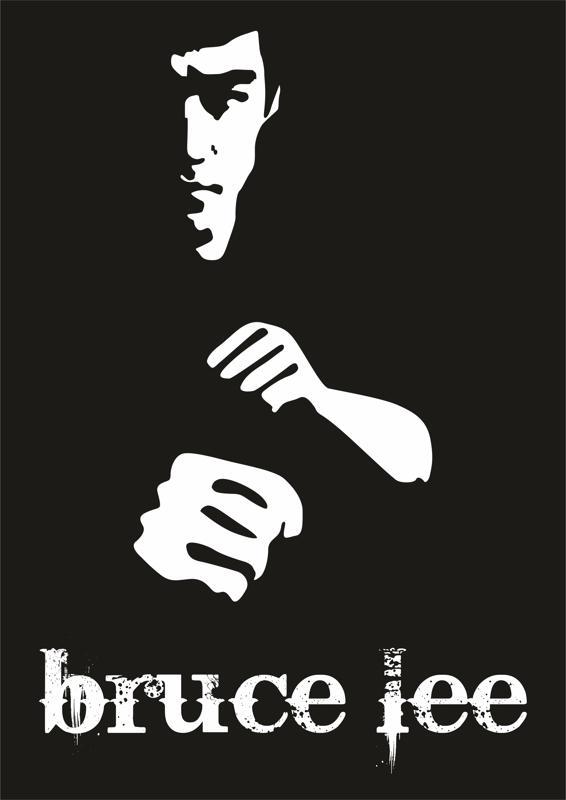 Bruce Lee Poster Free CDR Vectors Art