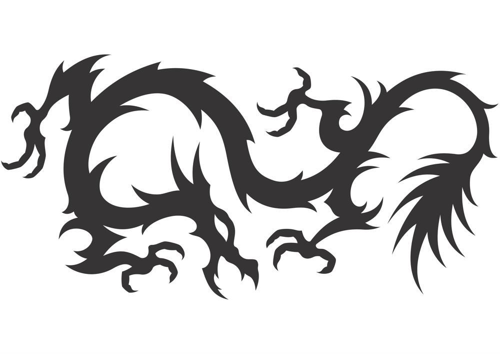 Dragon Vector Silhouette Free CDR Vectors Art