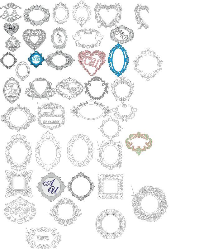 Wedding Monogram Vector Art Collection Free CDR Vectors Art