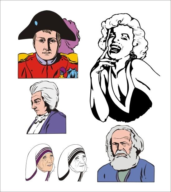 Variety Portraits Free CDR Vectors Art