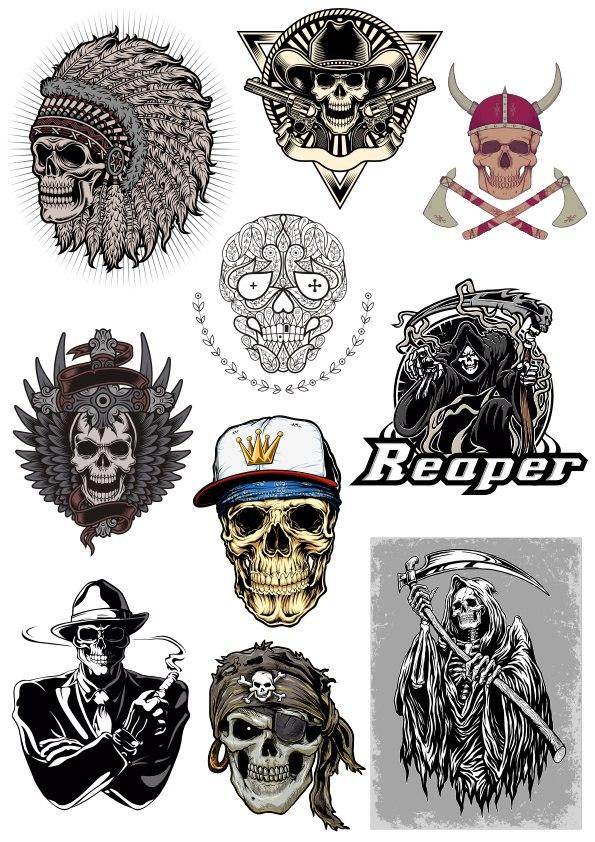 Free Skull Vector Pack Free CDR Vectors Art
