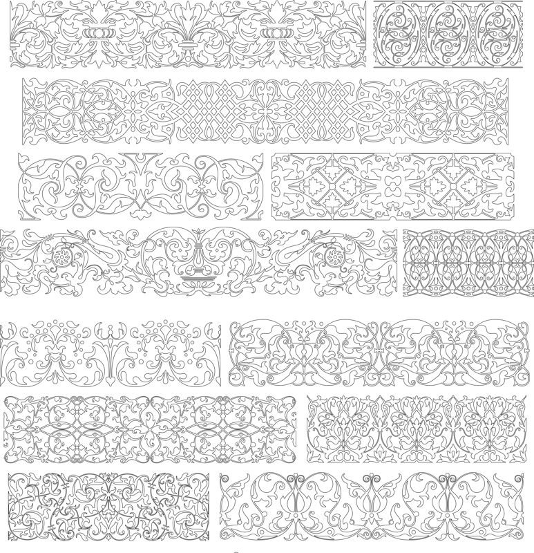 Collection Of Band Ornaments Free CDR Vectors Art