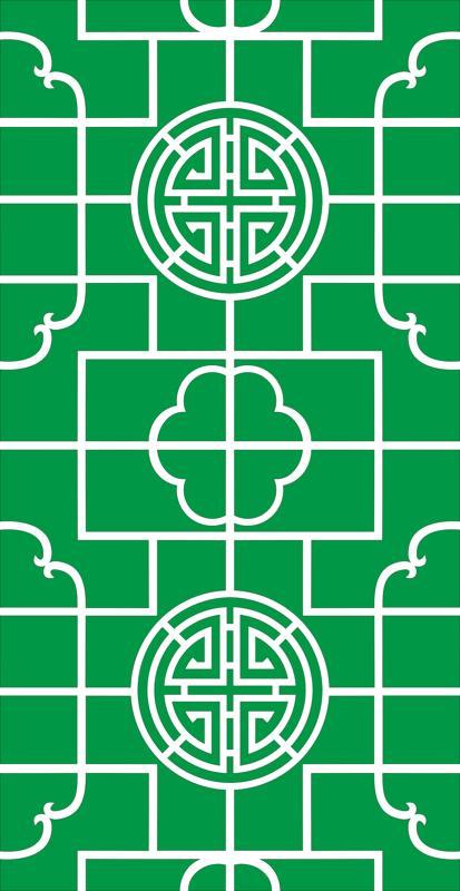 Circular geometric hollow pattern Free CDR Vectors Art