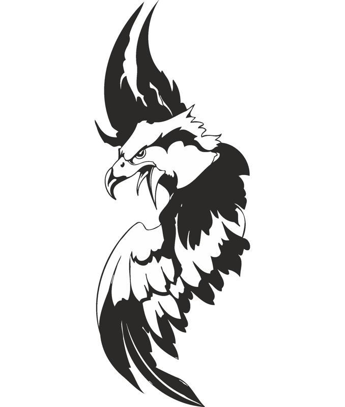Eagle Sticker Free CDR Vectors Art