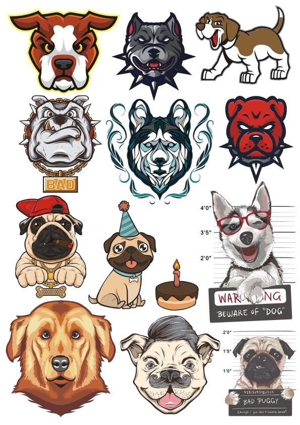 Dogs Vector Set Free CDR Vectors Art