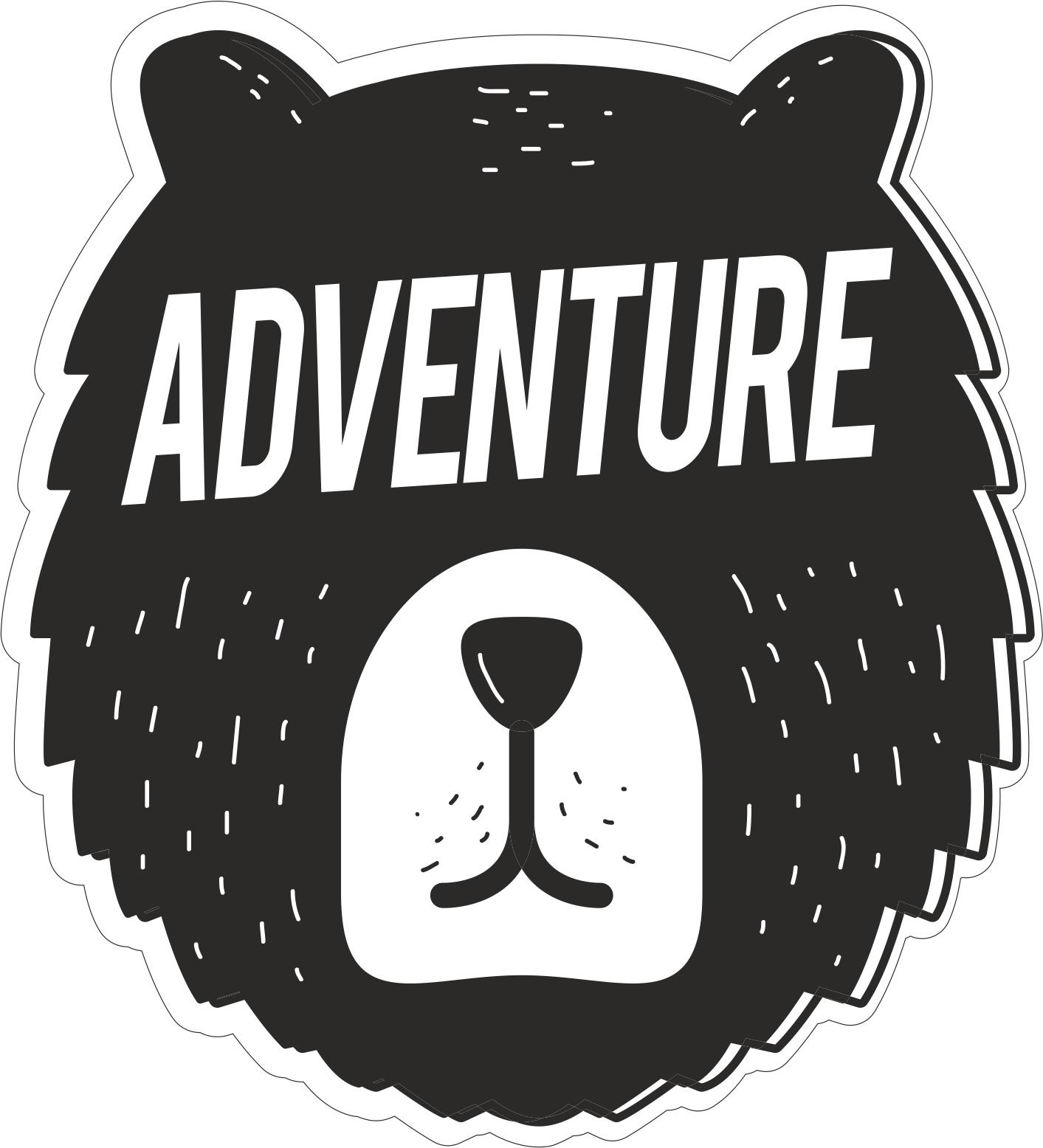 Adventure Sticker Free CDR Vectors Art