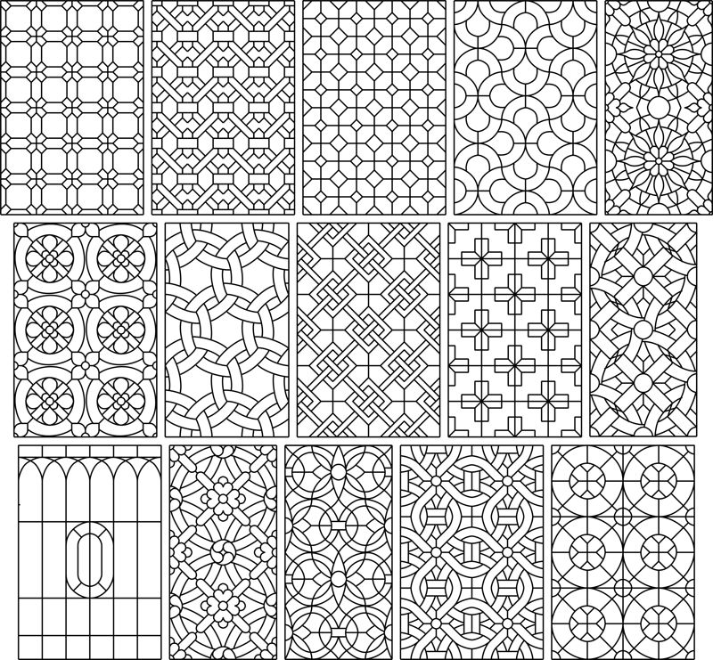Big Set 15 Seamless Simple Black And White Patterns Free CDR Vectors Art