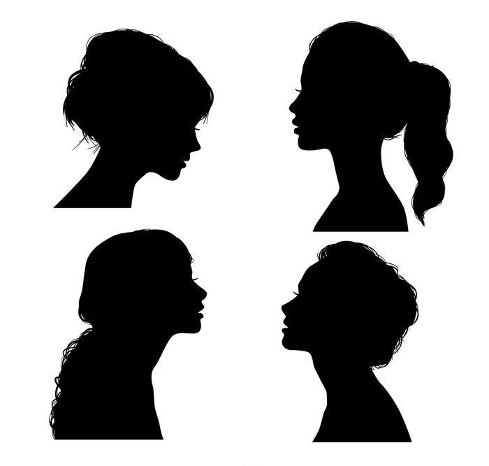 Girl Silhouette Free CDR Vectors Art