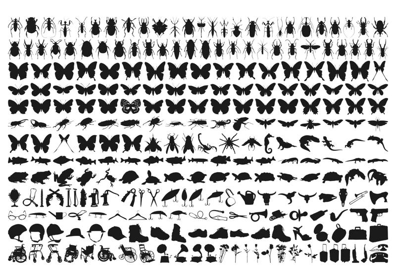 Insect Silhouette Free CDR Vectors Art