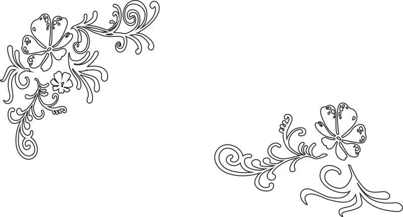 Vines and Flower Free CDR Vectors Art