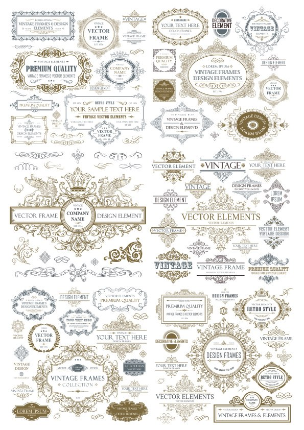 Vintage Seamless Collection Free CDR Vectors Art