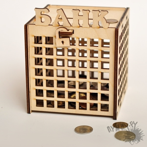 Laser Cut Piggy Bank Free CDR Vectors Art