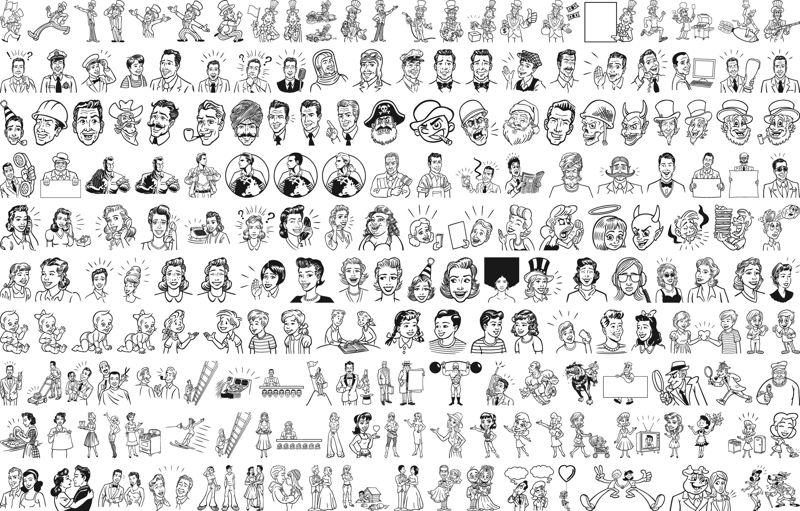 People Outline Free CDR Vectors Art