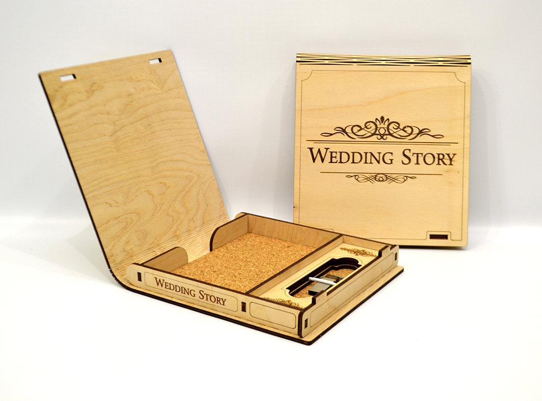 Wooden Box Wedding Curve Free CDR Vectors Art