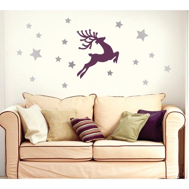 Deer Wall Sticker Free CDR Vectors Art
