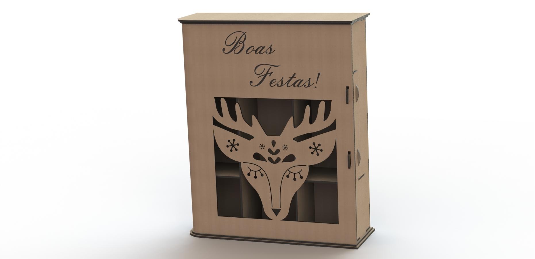 Simple Laser Cut Wine Box Free CDR Vectors Art