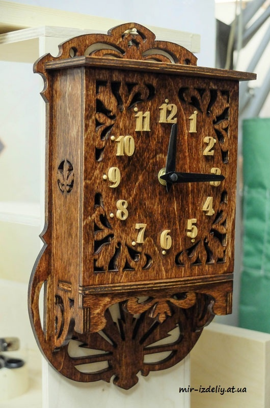 Scroll Saw Clock Pattern Free CDR Vectors Art