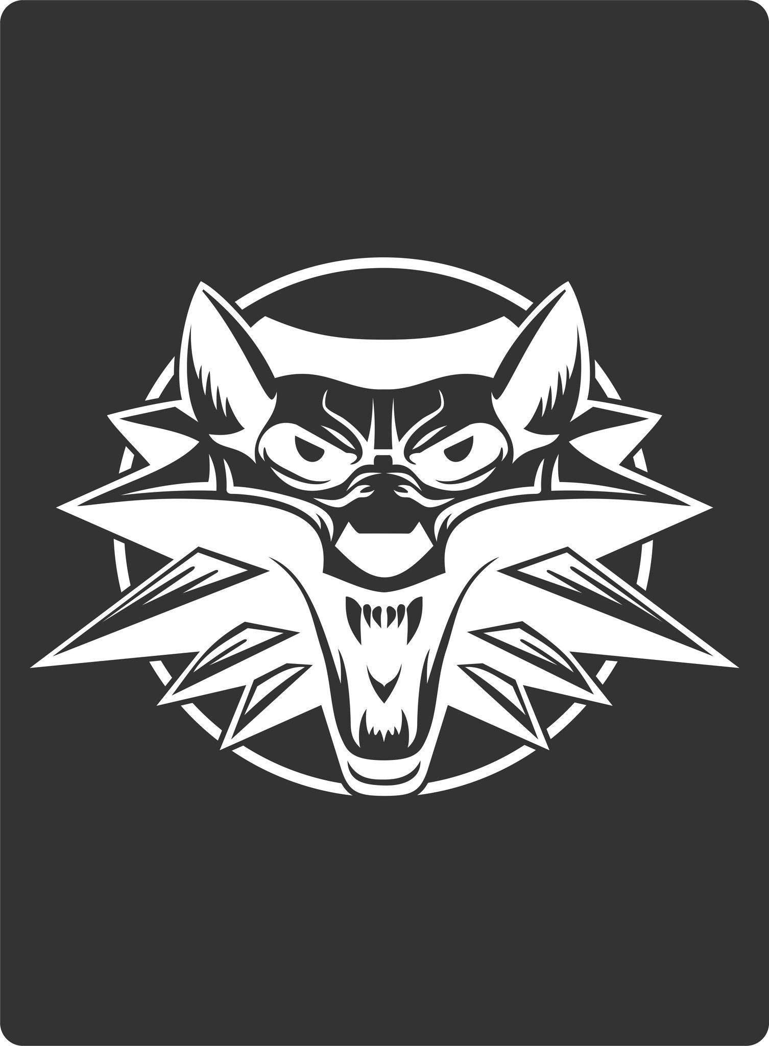 White Wolf Sticker Free CDR Vectors Art