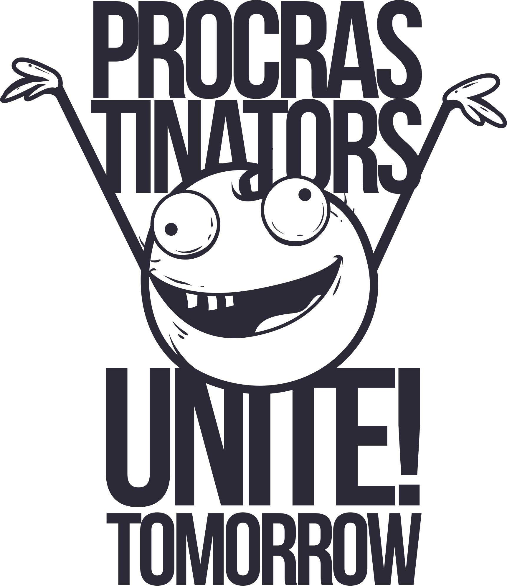 Procrastinators T Shirt Design Free CDR Vectors Art