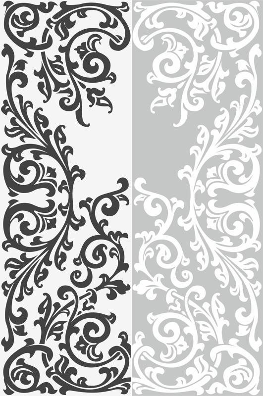 Abstract Floral Ornament Sandblast Pattern Free CDR Vectors Art