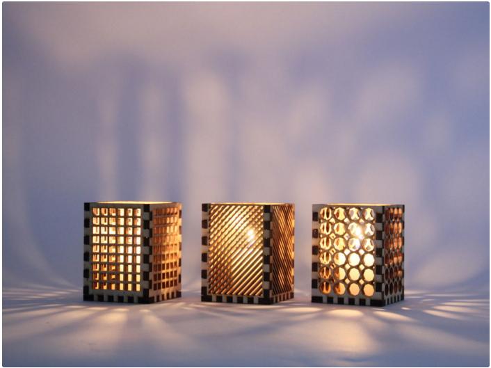 Laser Cut Candle Holder Free CDR Vectors Art
