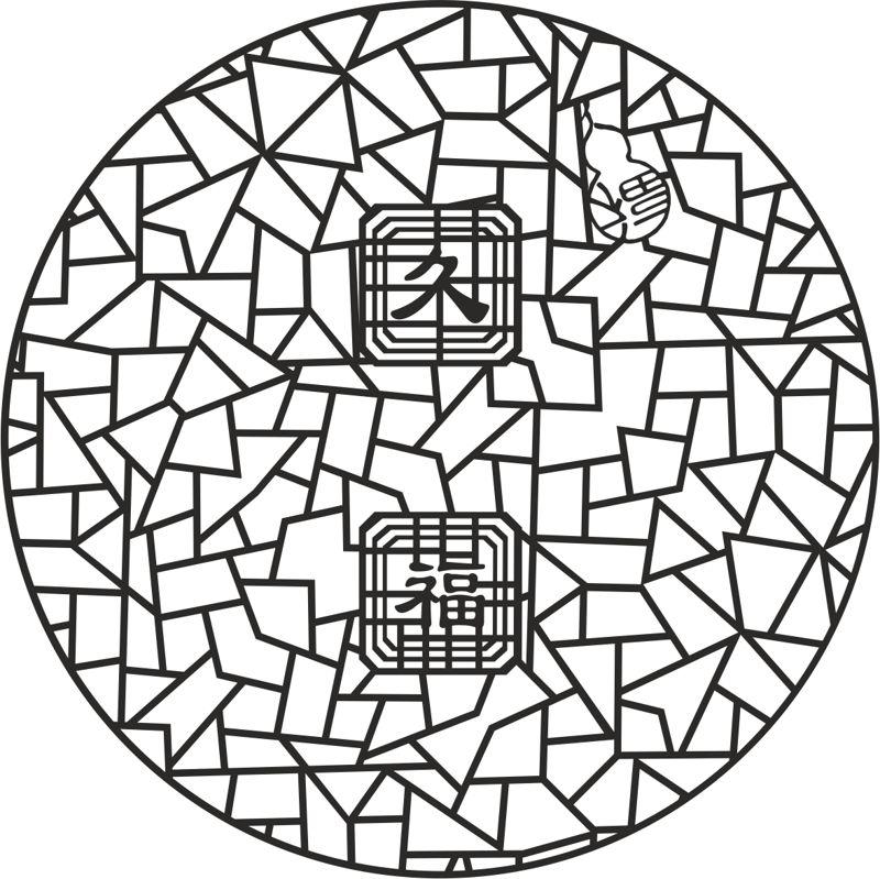 Ancient 2d jali design Free CDR Vectors Art