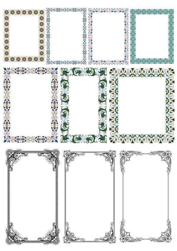 Elegant Decorative Frame Borders Free CDR Vectors Art
