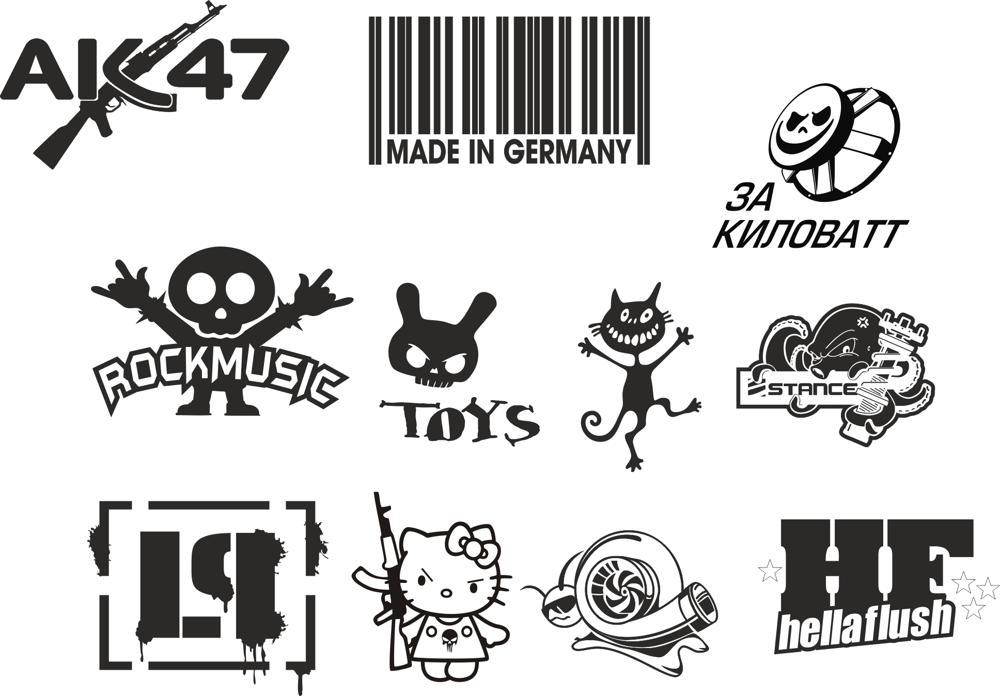 Custom Sticker Vector Pack Free CDR Vectors Art