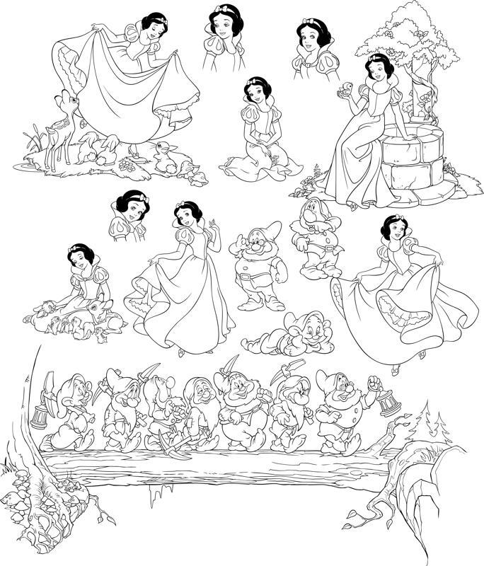Pretty Snow White And Seven Dwarfs Grumpy Free CDR Vectors Art