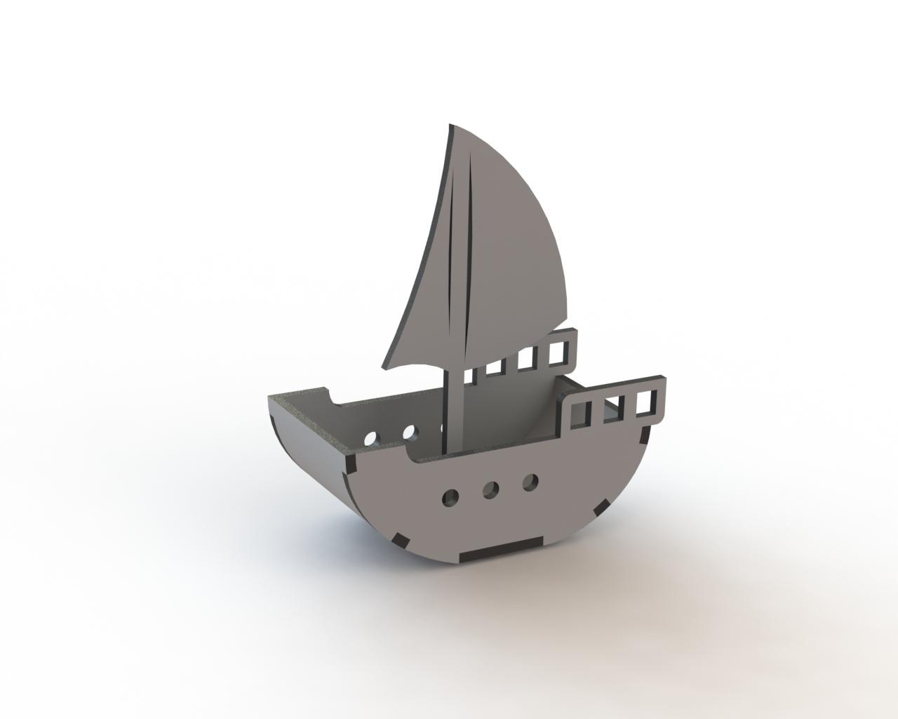 Sailing Ship Laser Cut Free CDR Vectors Art