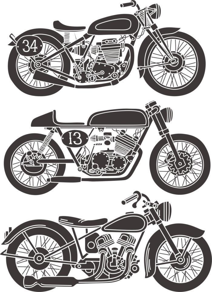 Vintage Motorcycle Free CDR Vectors Art