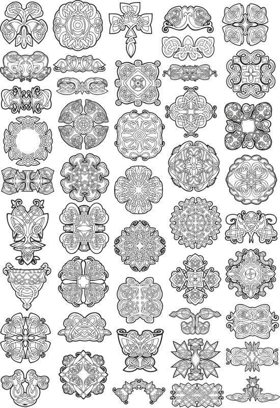 Collection of Celtic Knot Patterns Free CDR Vectors Art