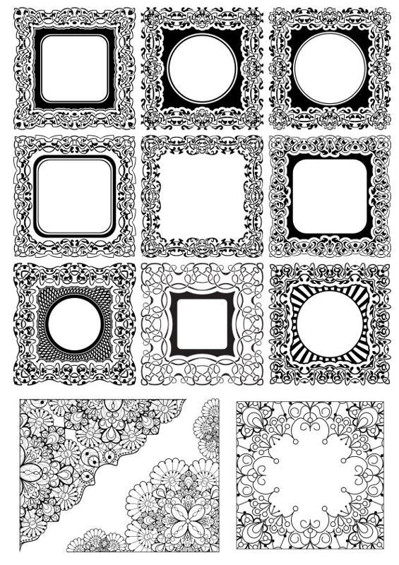 Square Frame Ornamental Free CDR Vectors Art