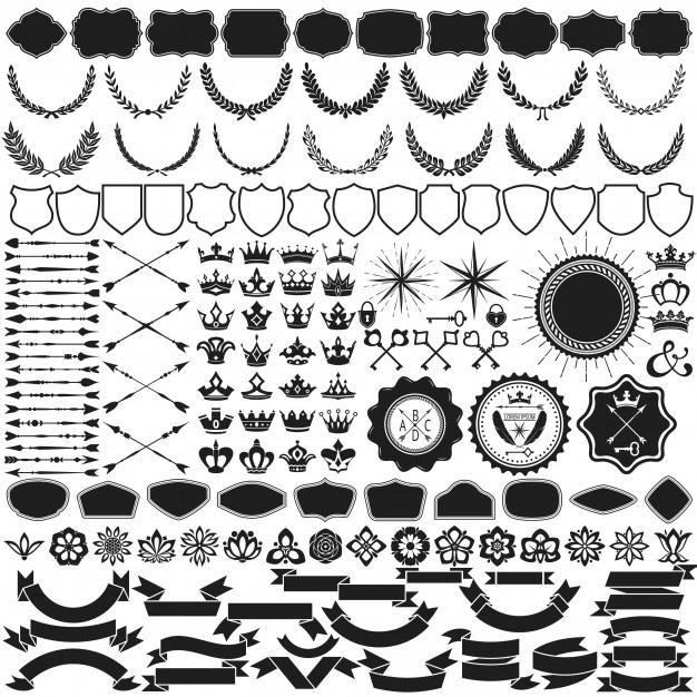 Design Element Vector Collection Free CDR Vectors Art