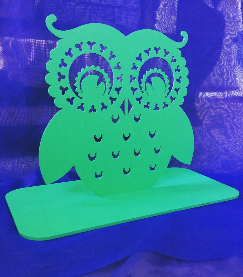 Owl Earring Holder Jewelry Stand Free CDR Vectors Art