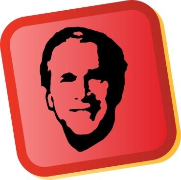 George W Bush Sticker Free CDR Vectors Art