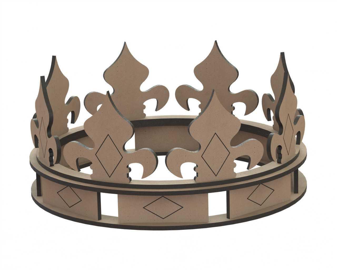 Crown Laser Cut Shape Free CDR Vectors Art