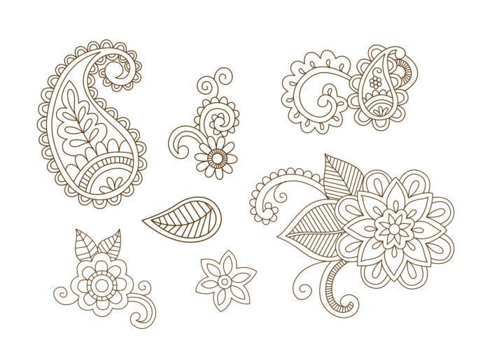 Henna Vector Set Free CDR Vectors Art