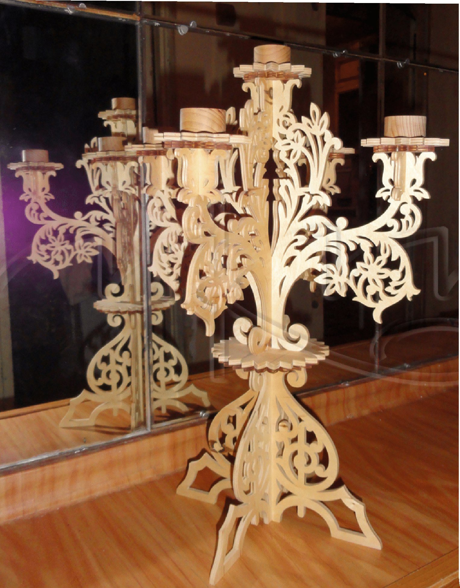 Candlestick Holders For 5 Candles Free CDR Vectors Art