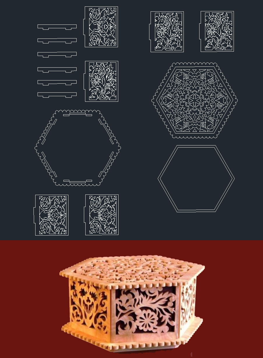 Casket from Plywood Free CDR Vectors Art