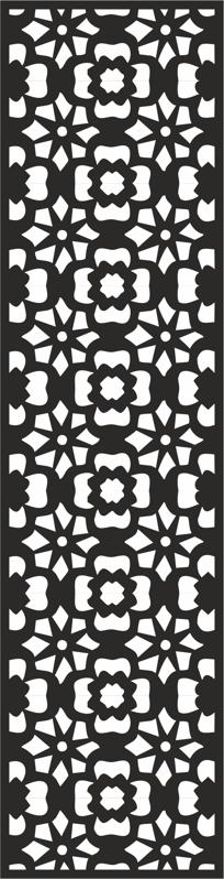 Flower Carving Pattern Free CDR Vectors Art
