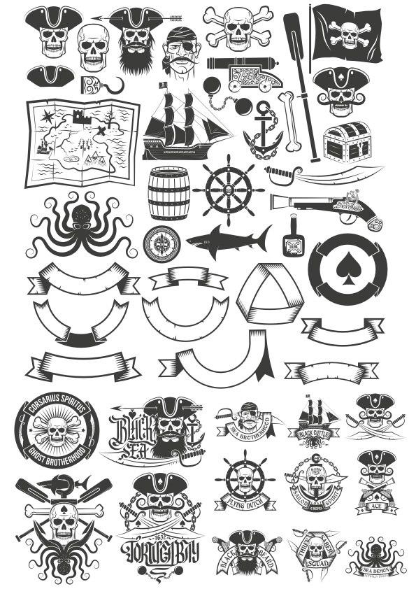 Pirate Item Free CDR Vectors Art